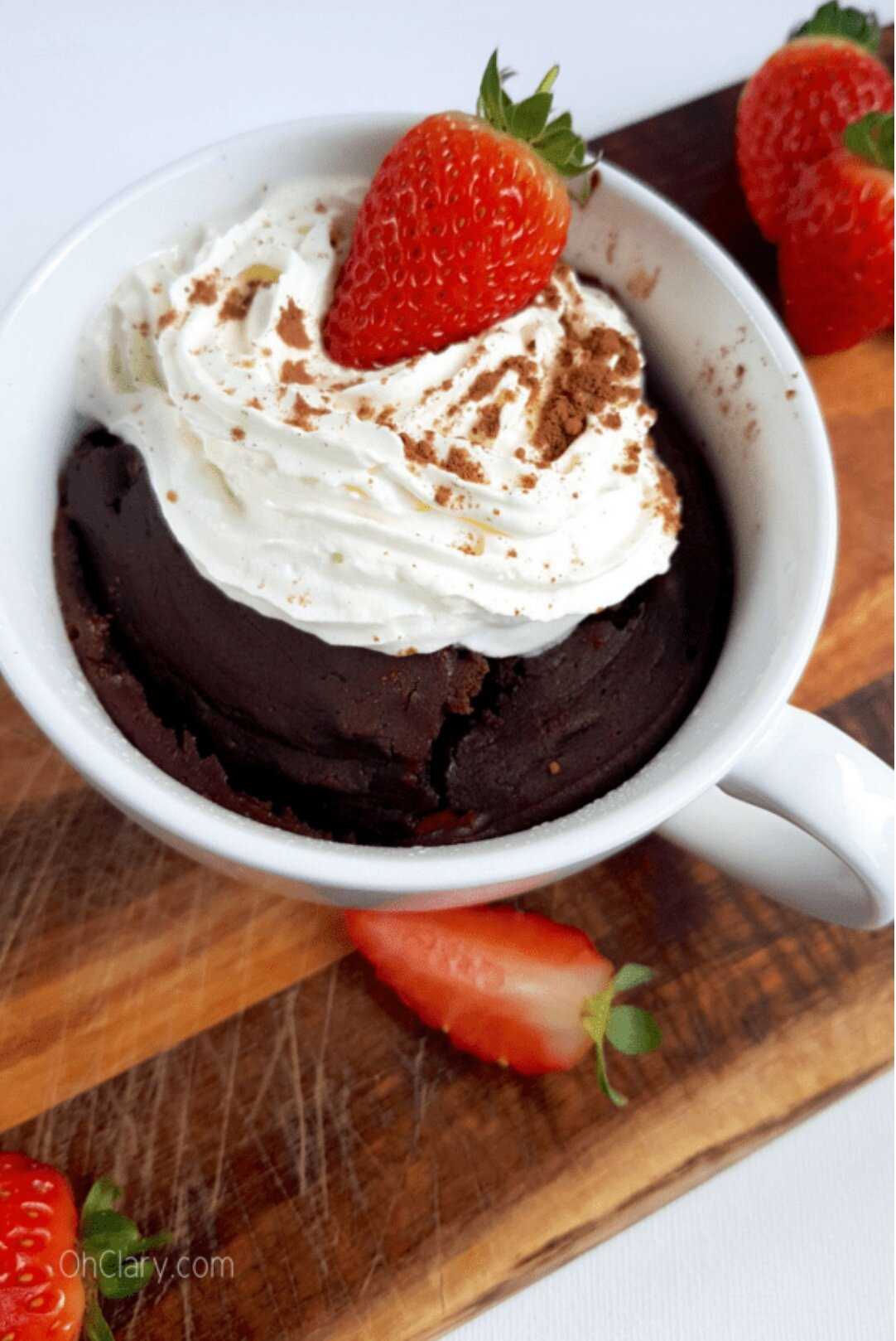 Strawberry Chocolate Swirl Mug Cake