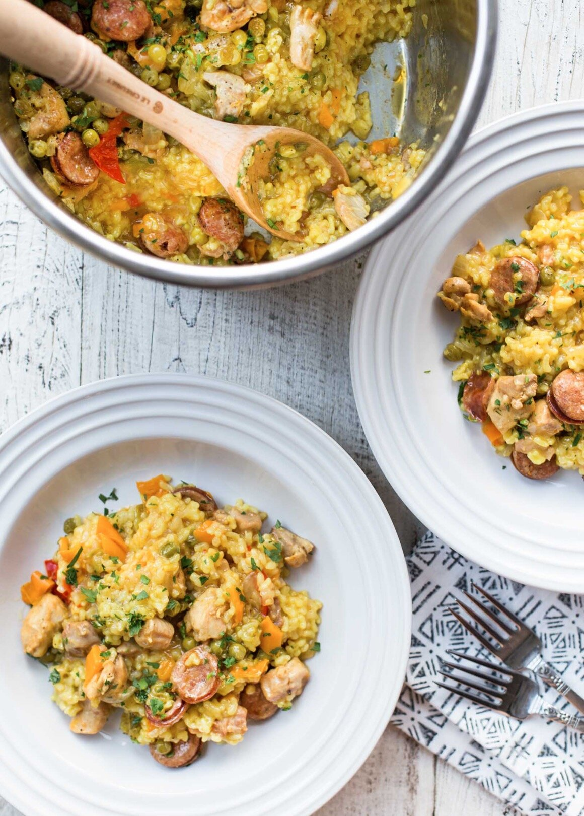 Paella with Chicken and Sausage