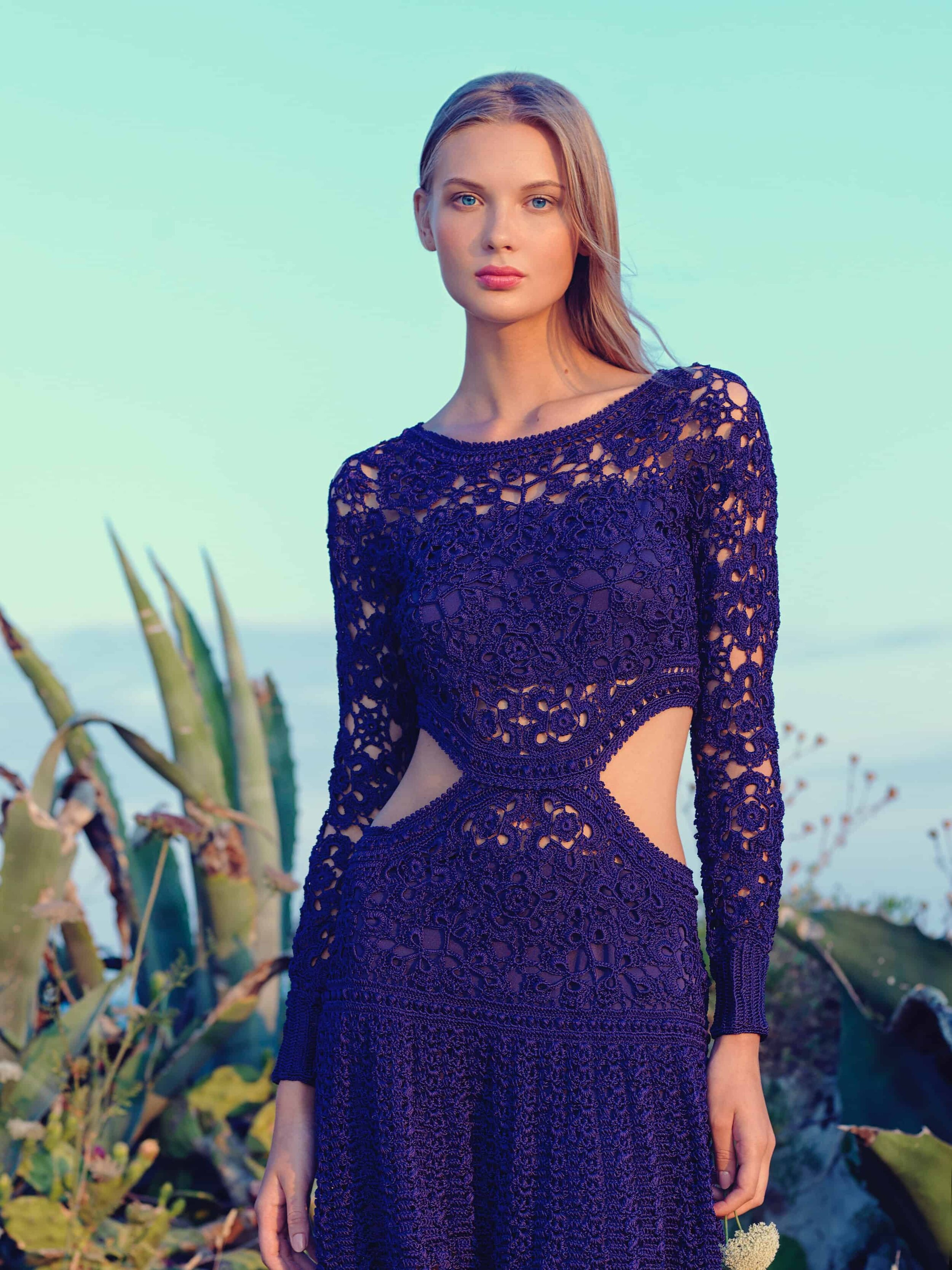 These are some of the best spring outfits for 2020. Crochet is everywhere, from vests to dresses to shoes to accessories. #springtrends #2020fashion #springdresses #purple #dress #longsleevedress #instyle2020 #bohofashion #bohemian #bohemianstyle