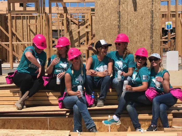 """The  Habitat for Humanity  """"Women Build"""" event in 2017. Kay's team, The Riveters, was comprised of all building industry women."""