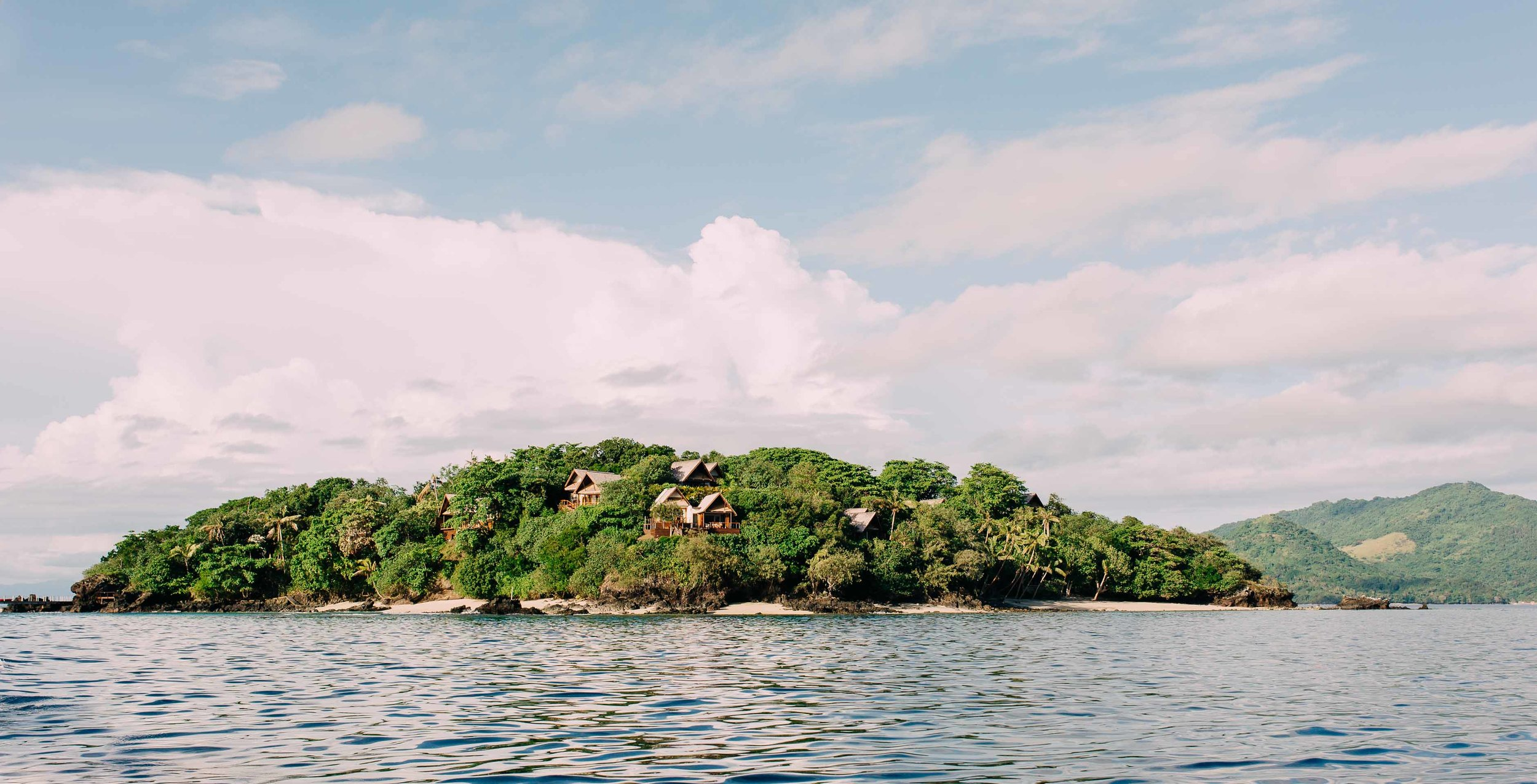 View from the boat of Royal Davui Island Resort Fiji