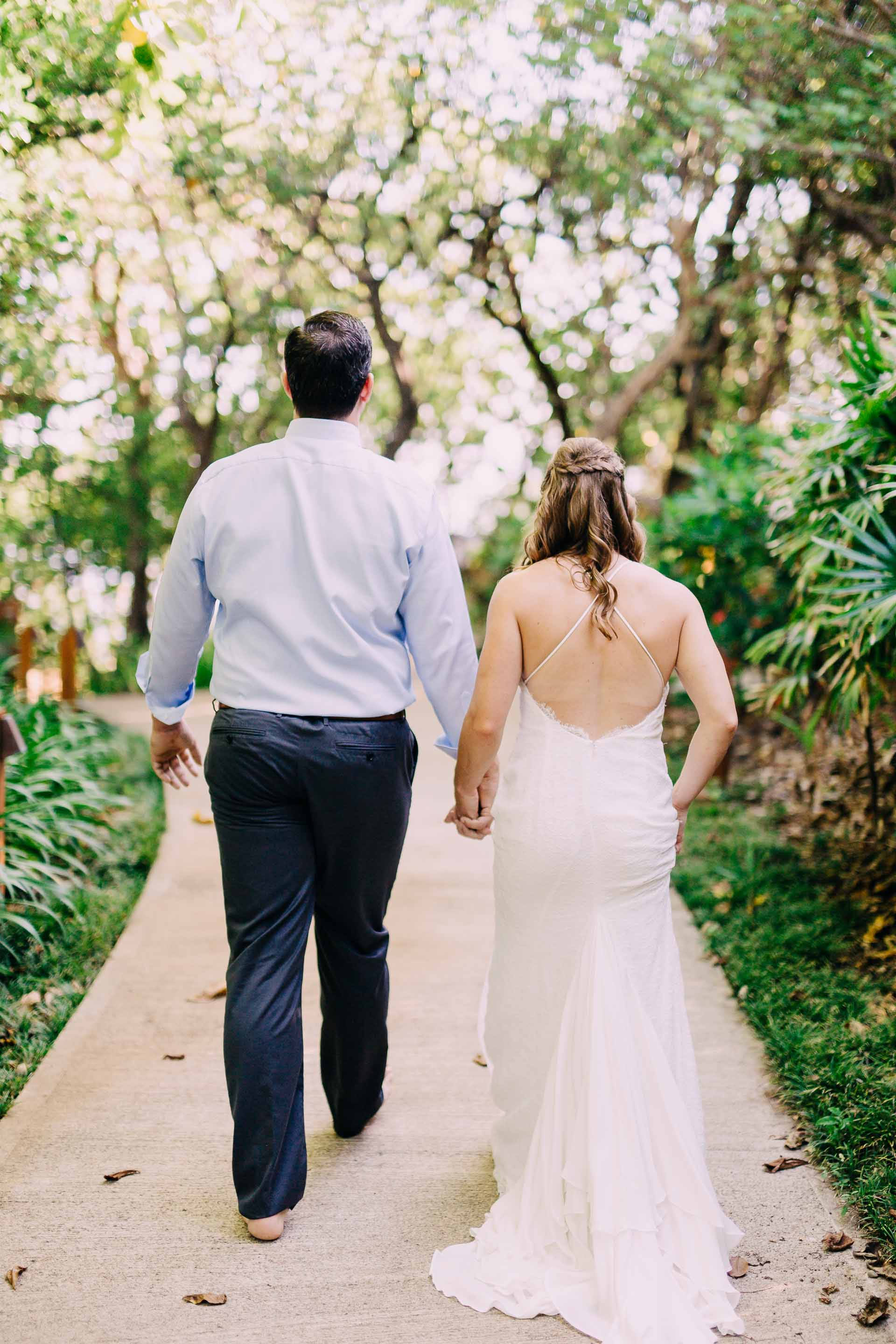 Couple hand in hand ready to get married in Fiji.
