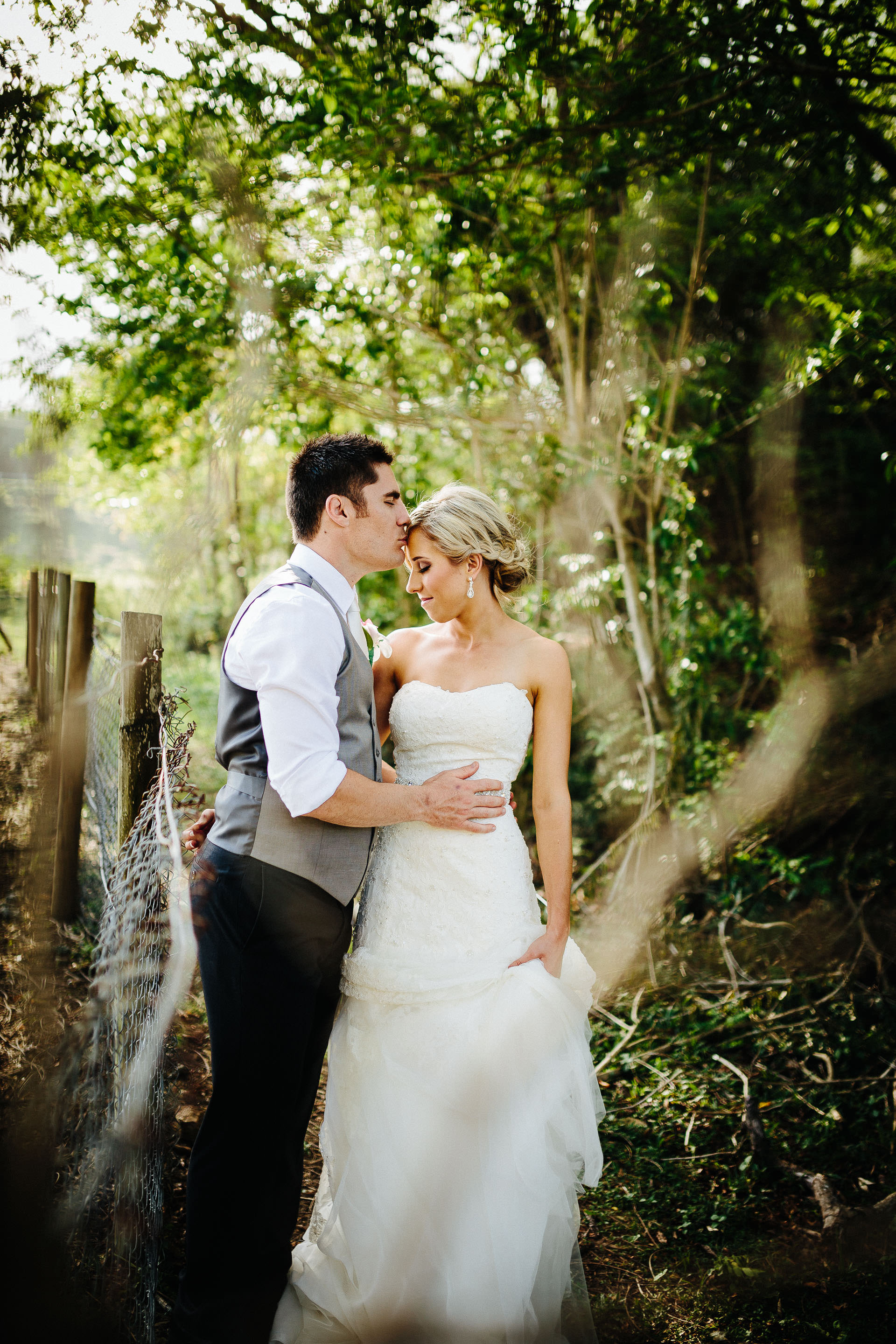 couple portrait in the woods