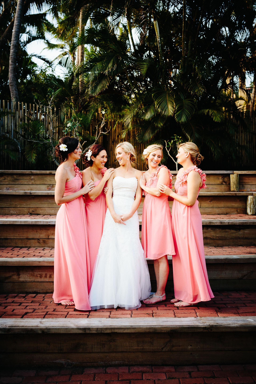 bridesmaids sharing a fun moment