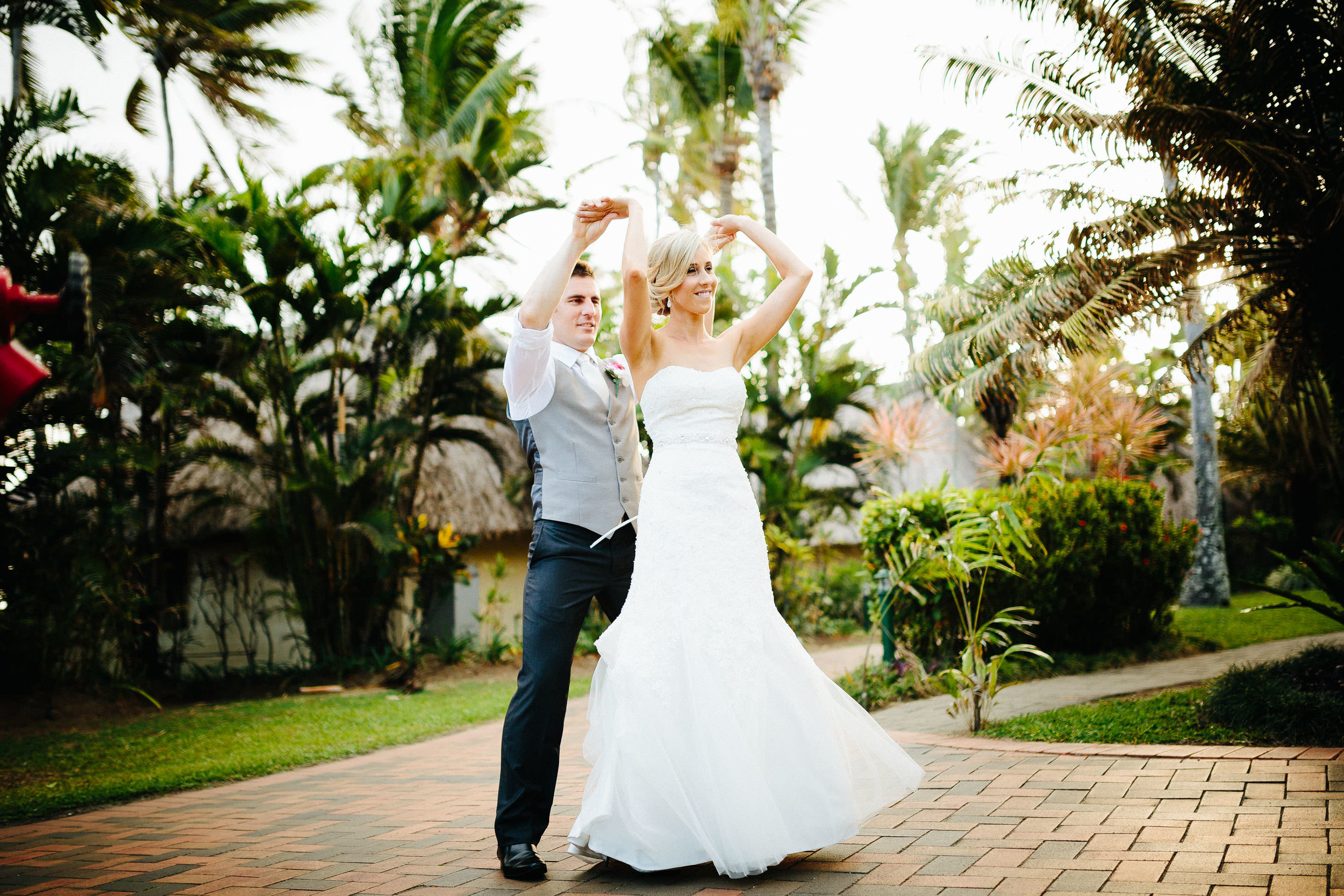 couple practicing their first dance