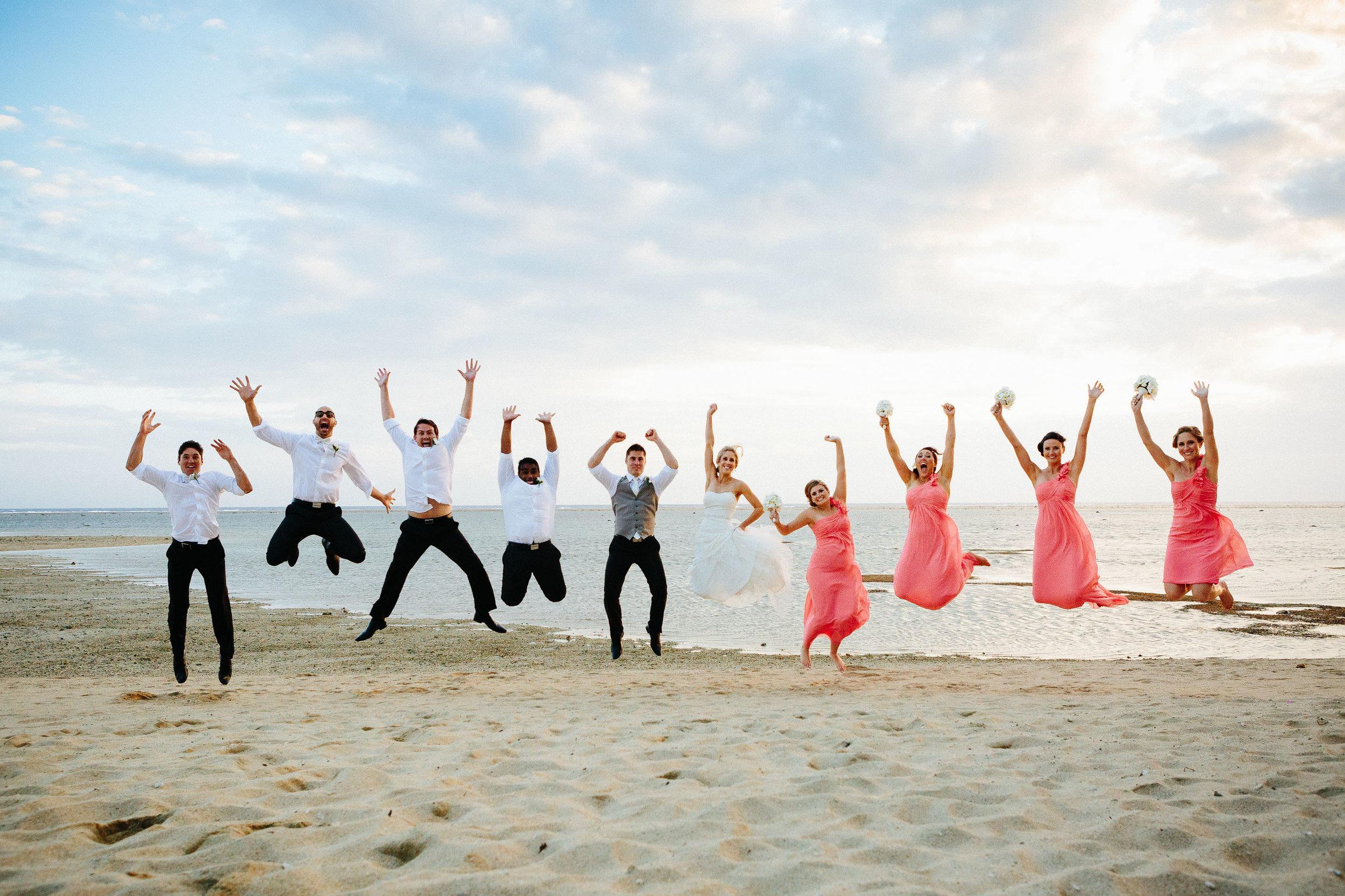 bridal party jump shot