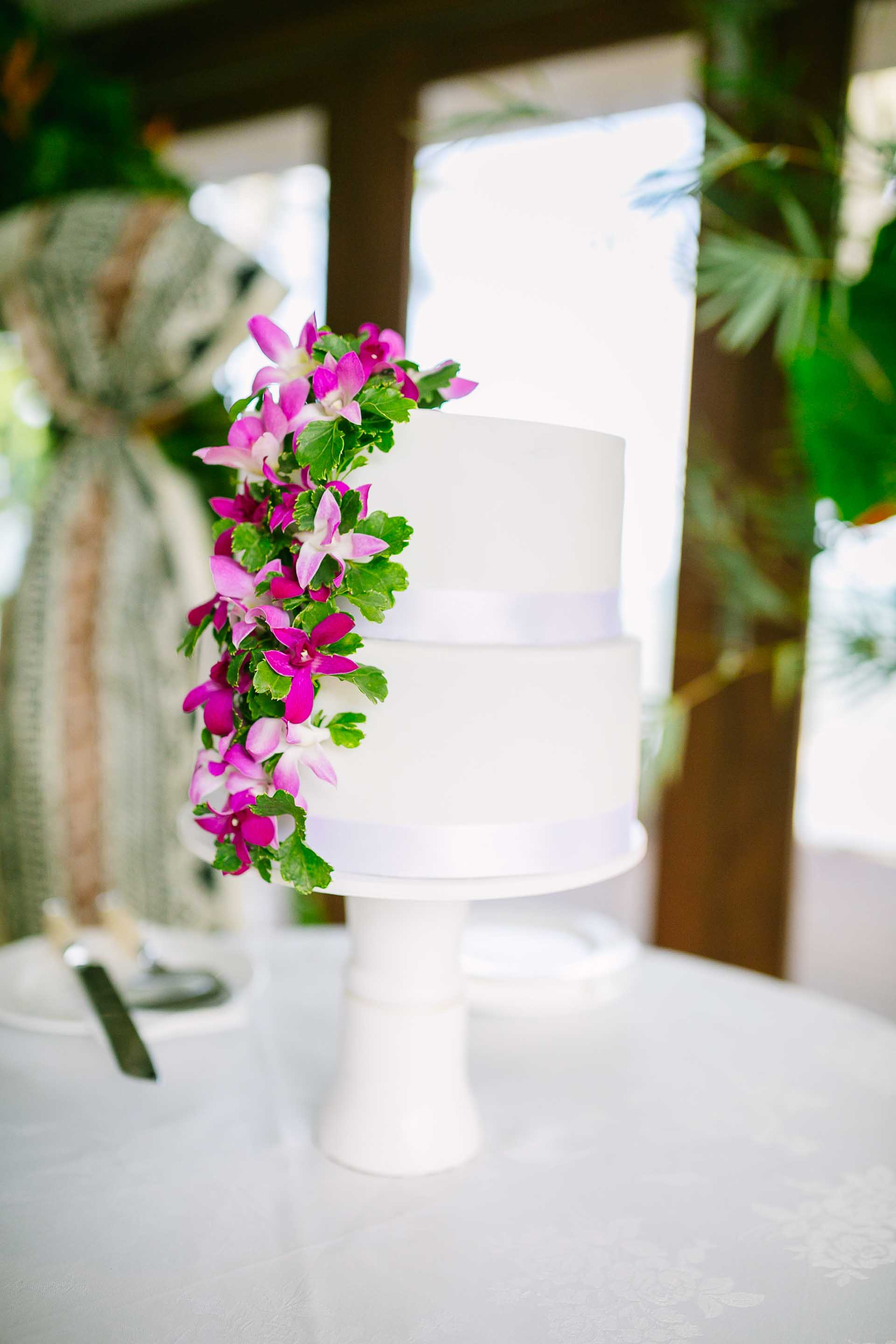 the wedding cake ready at the ceremony for just after the vows are exchanged