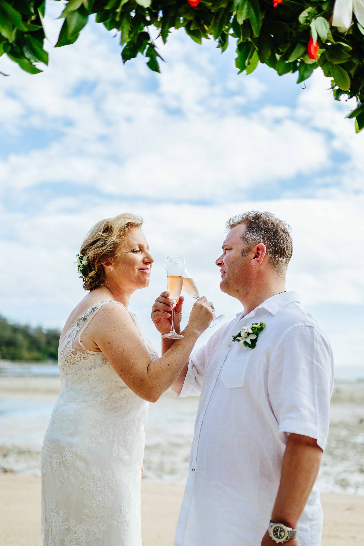traditional wedding champagne twist drink