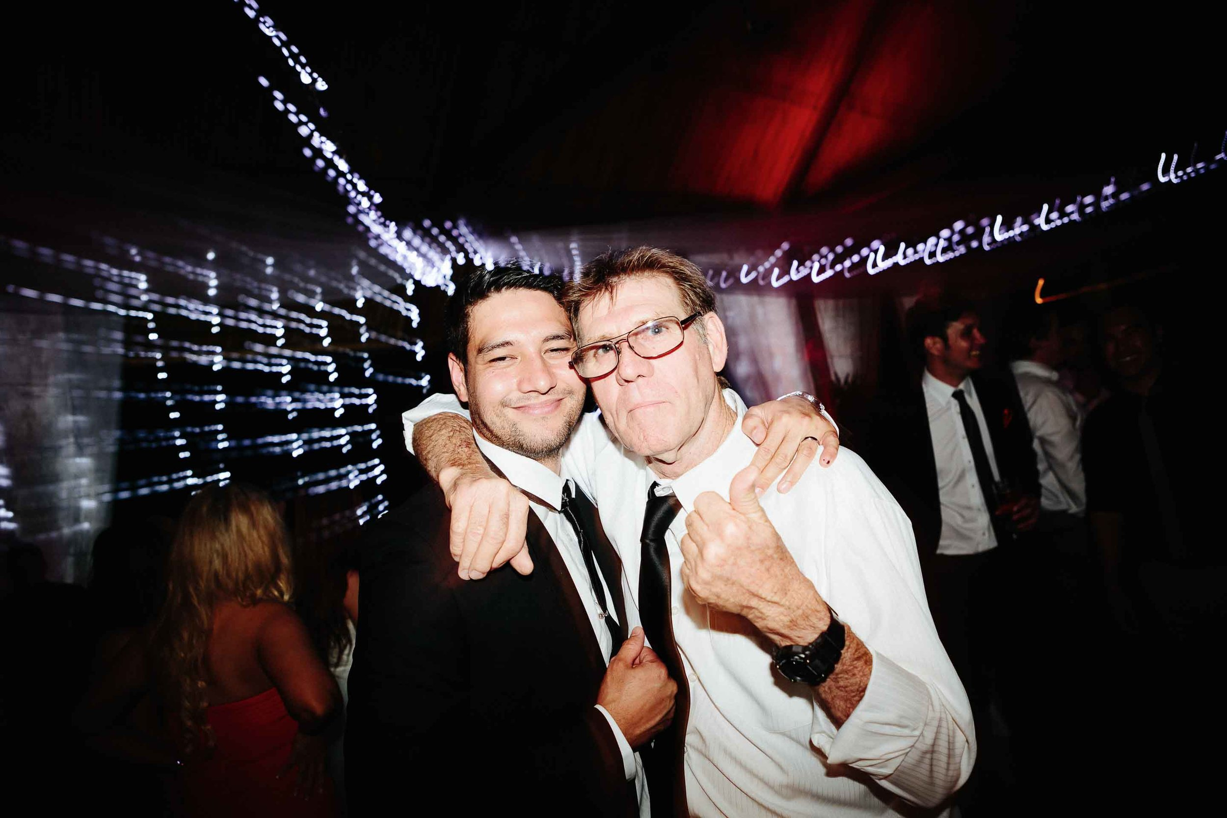 groom and his dad on the dance floor