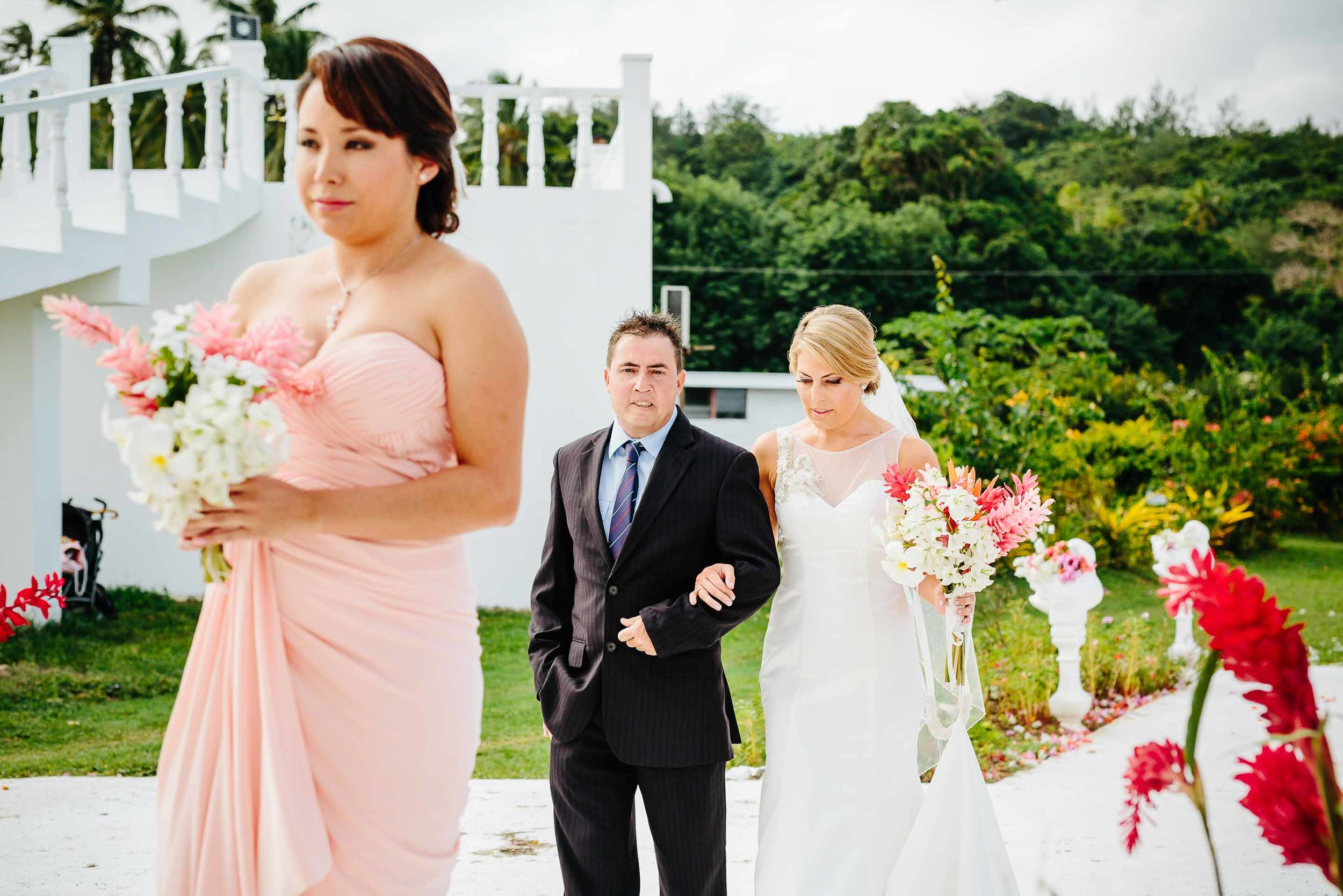 bride escorted down the aisle by her brother