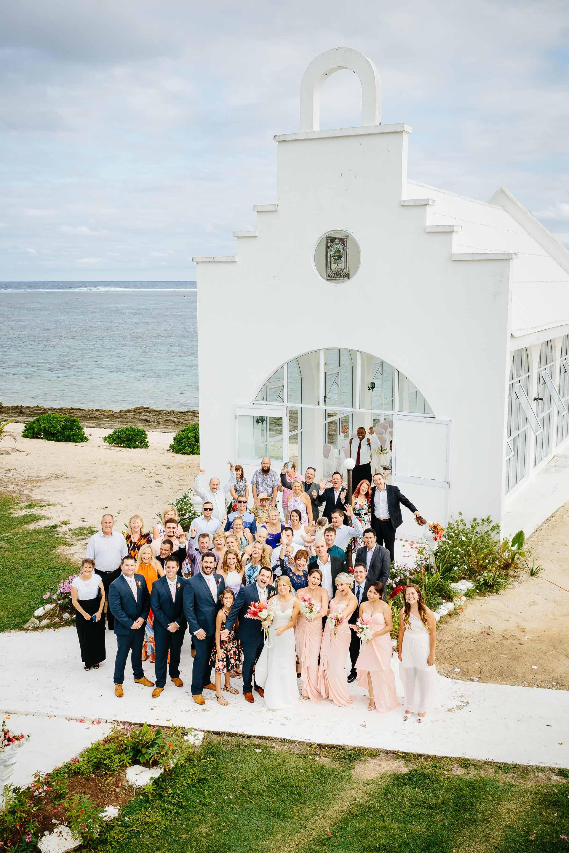 group photo outside the chapel