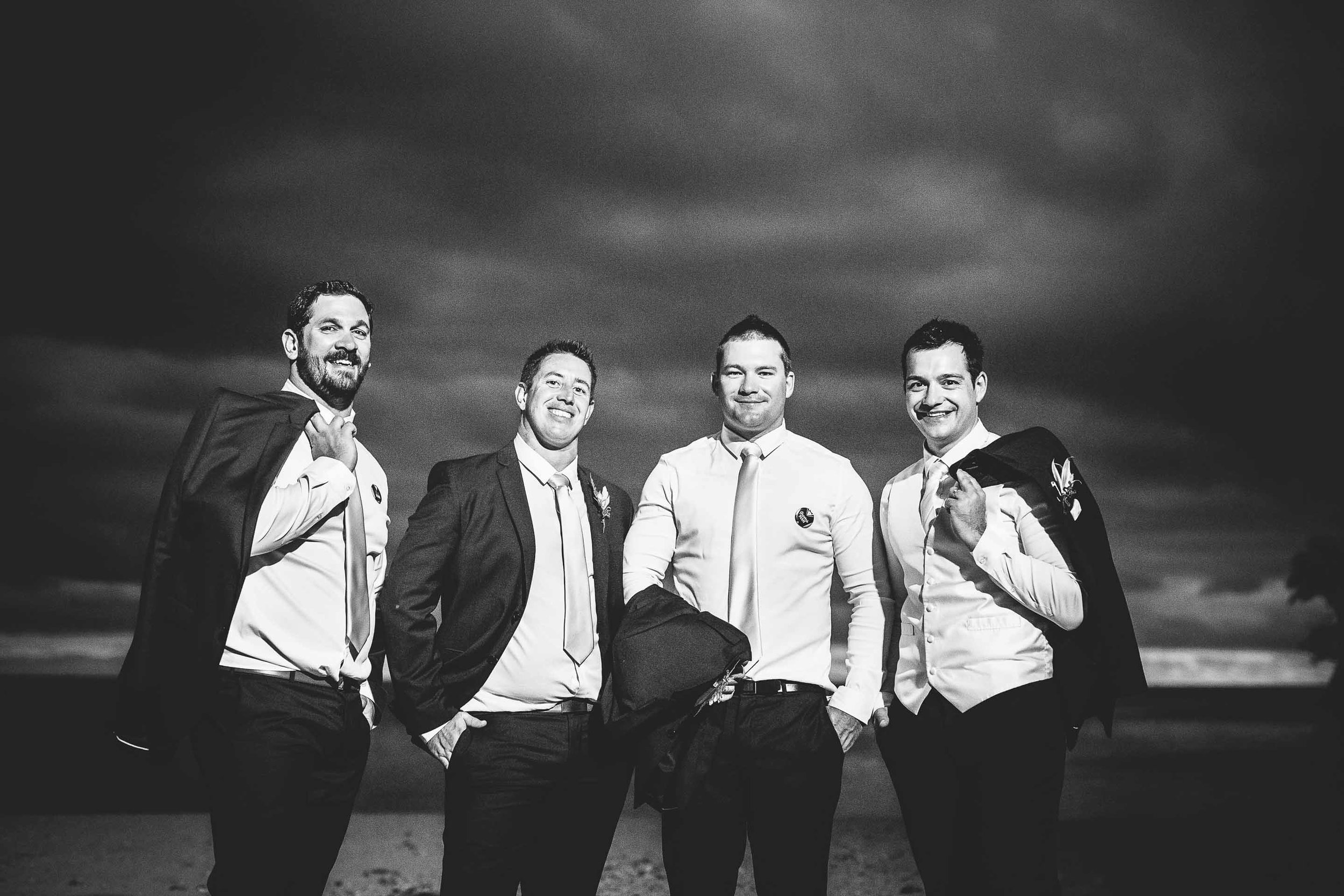 groomsmen black & white