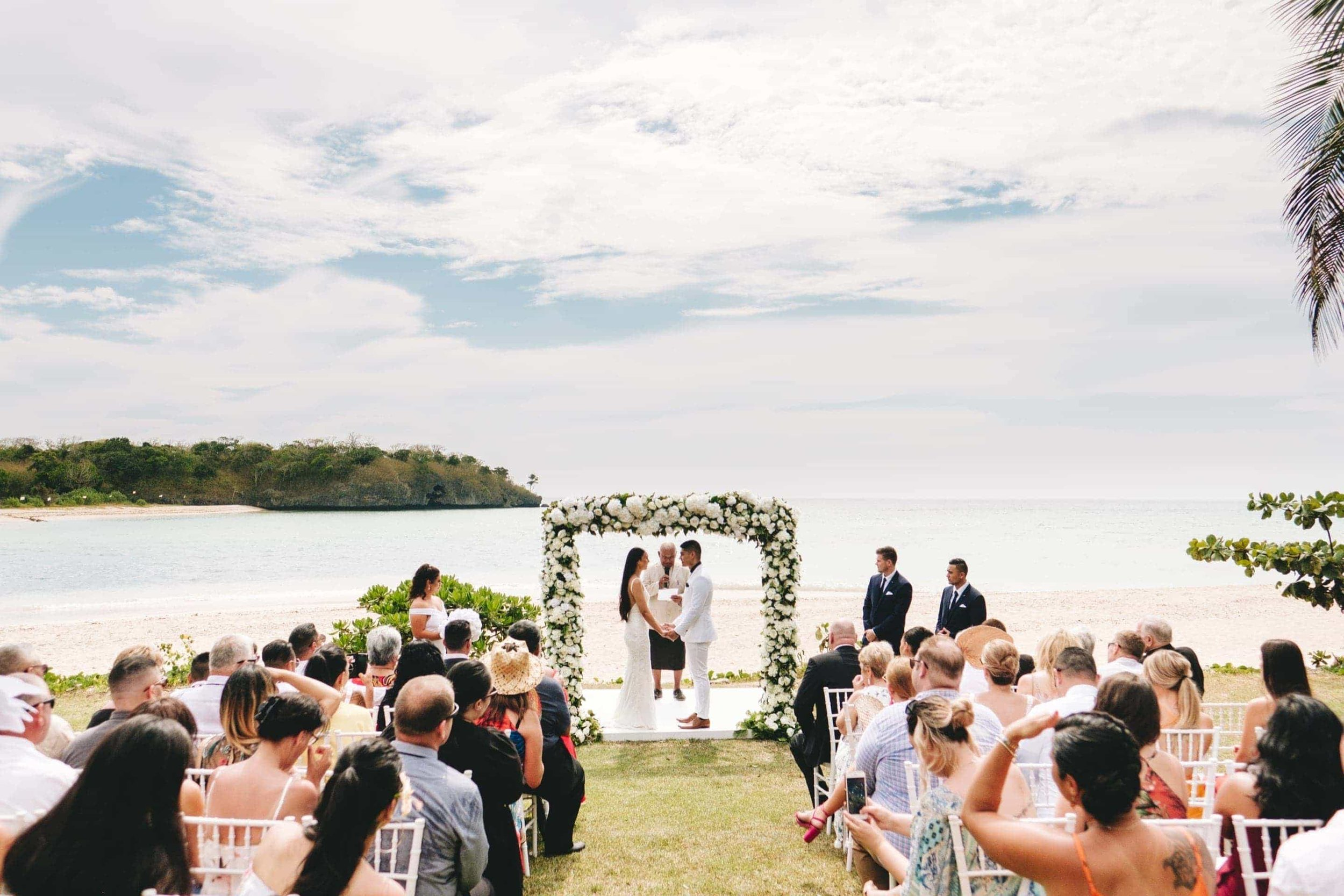a wide shot of the wedding ceremony