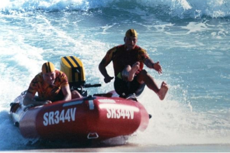 The IRB Championships at Scarborough in 2001 Matt Culka - Driver, Alison Harrington - Patient, Chris Abbott – Crewman   Photo Courtesy Aussies in Action