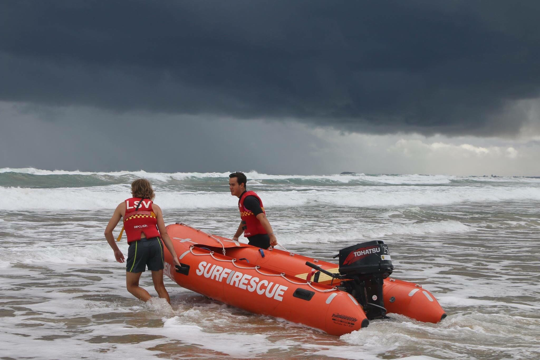 Surf Rescue - Patrolling two beaches, in the bay and in the surf.