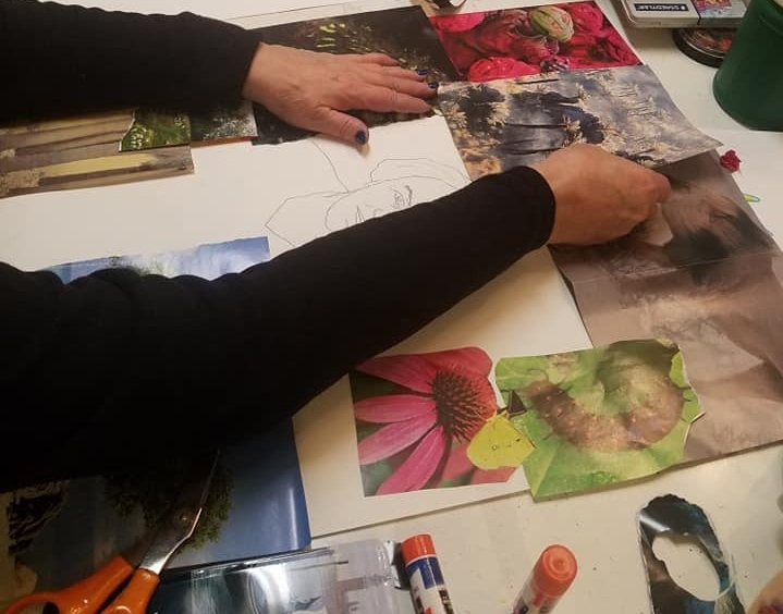 Layering on Paper - Explore paper, collage, stencils and layers in this 1-day class.