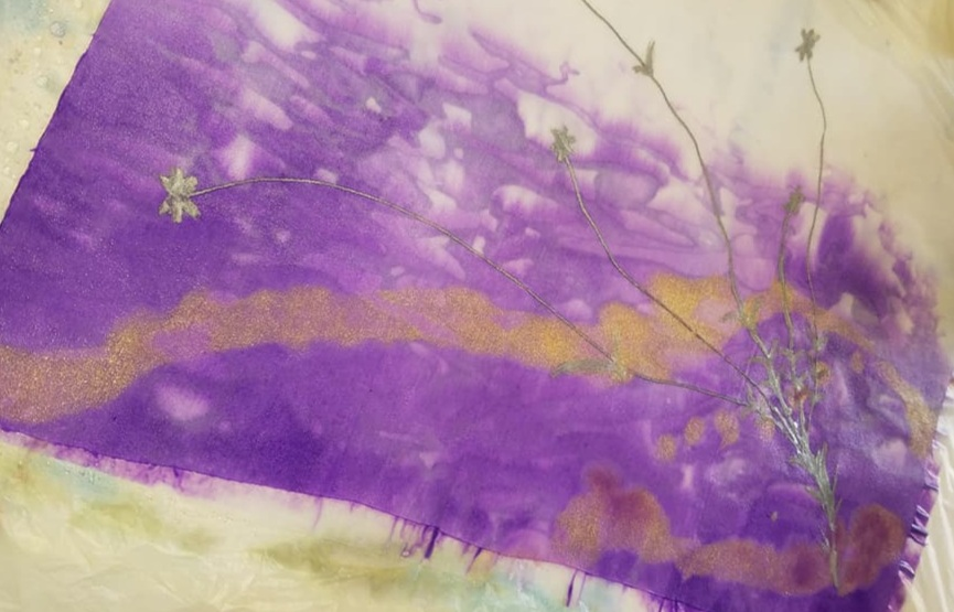 Surface Design 2 - Use the unique fiber layers created in Surface Design 1 to create a unique piece of fiber art.