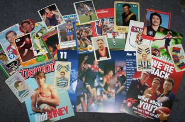 Cards – large range of Scanlens/Select, Team Coach, Cigarette/Trade Cards, Stickers etc(subject to availability - email for details)  -