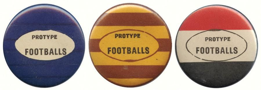 c1960 Protype Footballs VFL Colour Badges   NEED: Melbourne