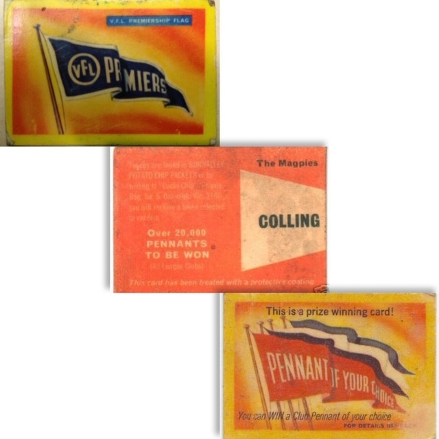 Twisties Pennant Prize Cards 1967-1968