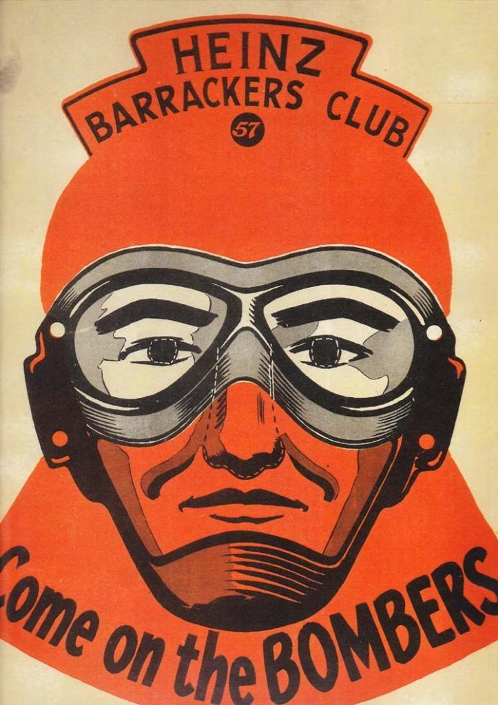 "c1960 HEINZ ""Barrackers Club"" Mask   NEED: MLBOURNE"