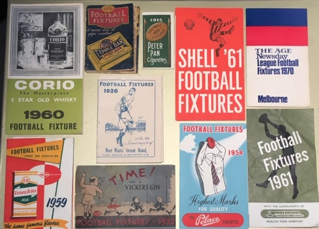 V.F.L. Football Fixtures   Always interested in any old or unusual V.F.L. Football Fixtures  - particularly pre-1965