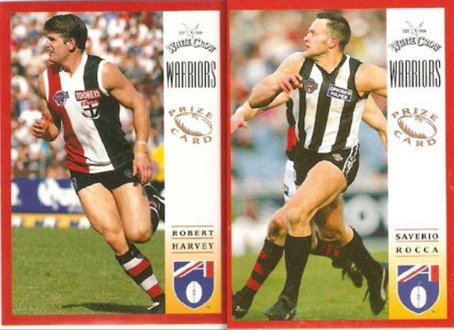 1997 White Crow/Fountain PRIZE Cards   NEED: Stephen Tingay & David Schwarz