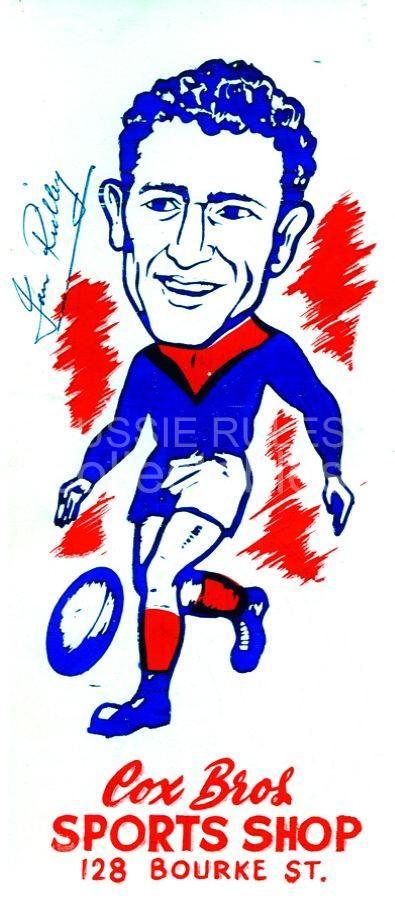 c1955 Cox Bros. Footy Blotters   NEED: Ian Ridley