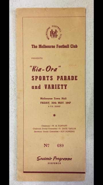 """Melbourne F.C. """"Kia-Ora"""" Sports Parade Progammes   NEED: 1947, 1950, 1953, 1954, 1956"""
