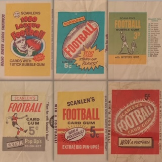 Scanlens Football Card WrappersAlways interested in Scanlens wrappers - particularly pre-1980 -