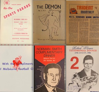 Melbourne F.C. Ephemera Always interested in any old or unusual Melbourne F.C. ephemera: invites, menus, newsletters, itineraries etc etc -