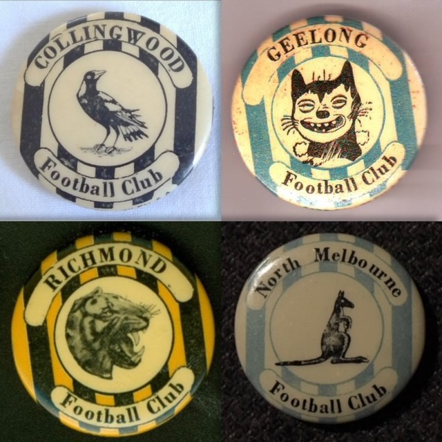 c1950 VFL Mascot Badges   NEED: Melbourne