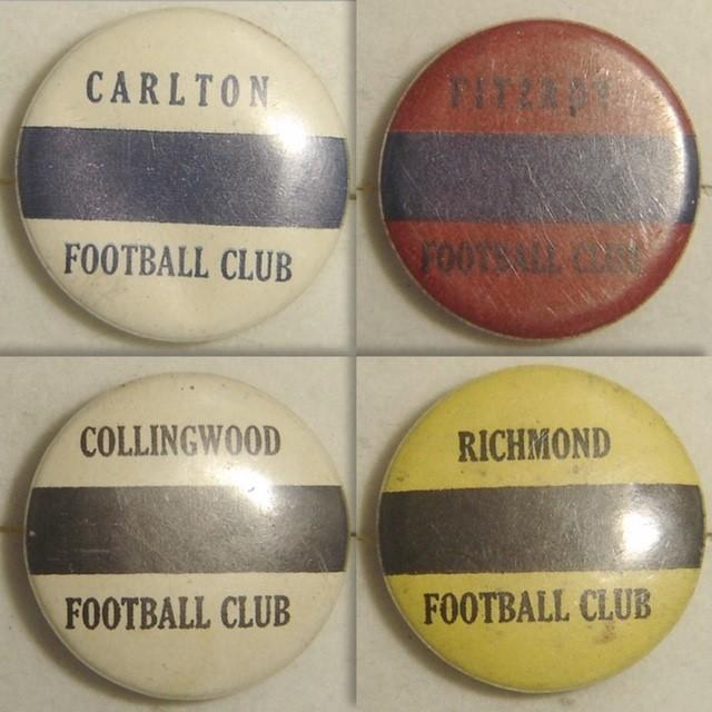 c1930 VFL Colour Badges   NEED: Melbourne