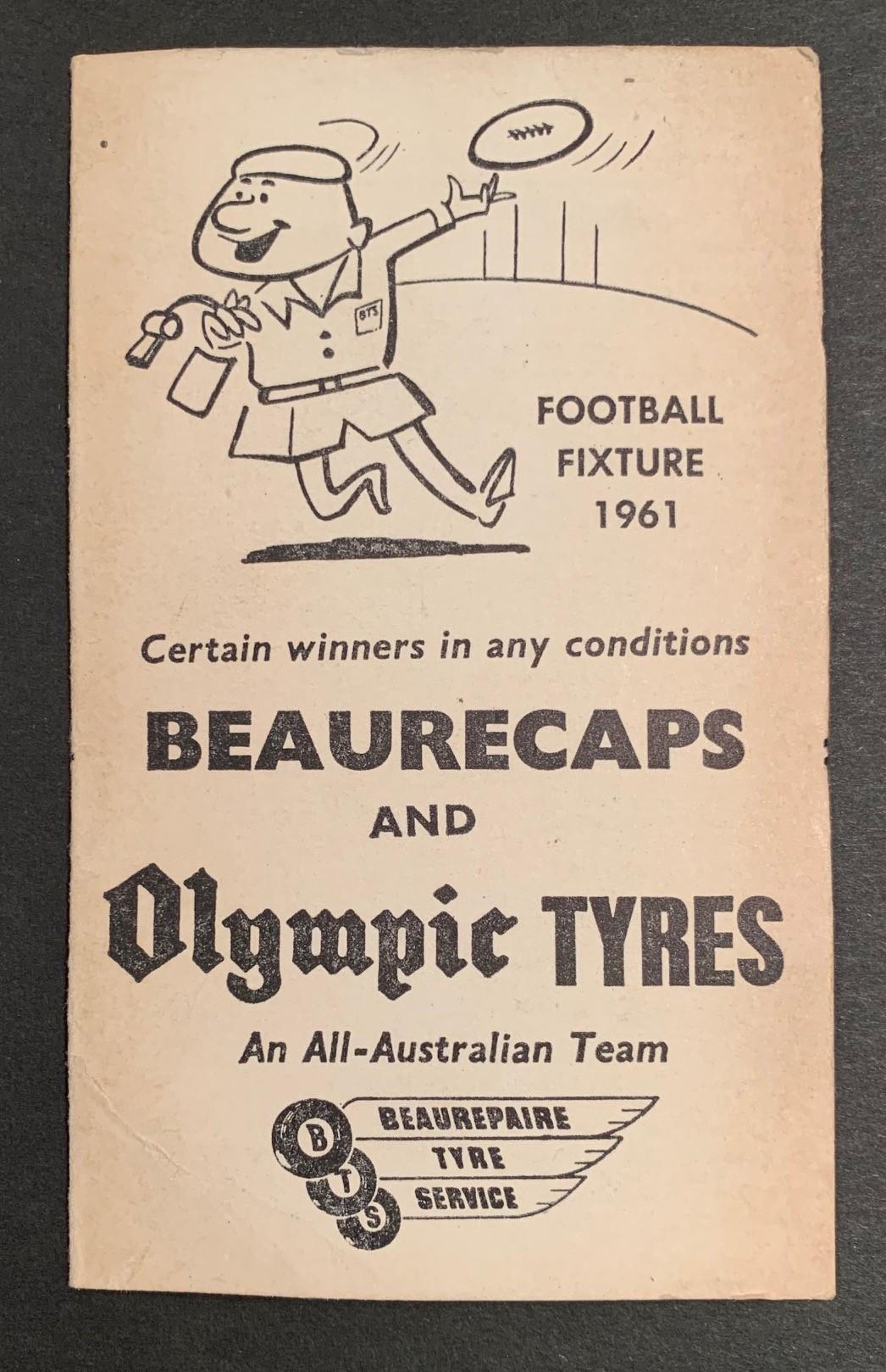 1961 Beaurepaires Football Fixture