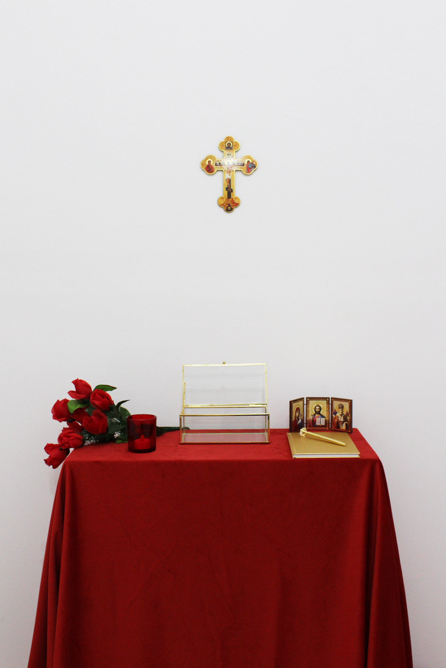 Copy of Ivana Jovanović, Altar, 2019, mixed media installation on plinth.