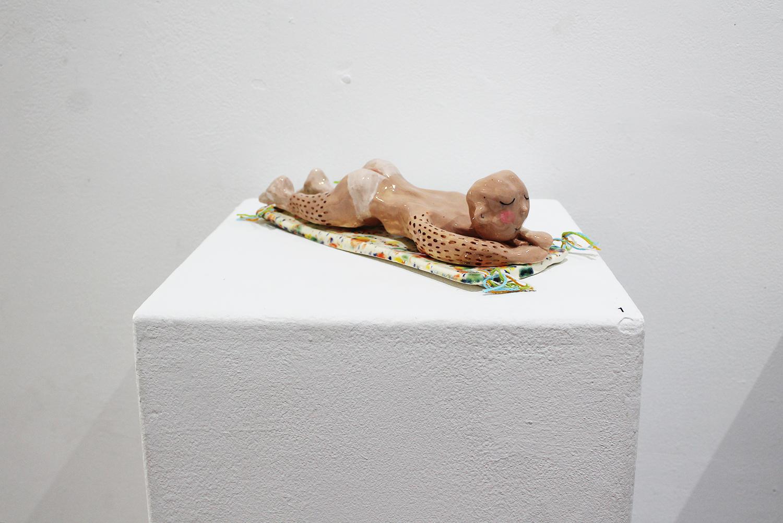 'Nude Sunbather', Samuel Leighton-Dore, glazed ceramic, dimensions variable $450