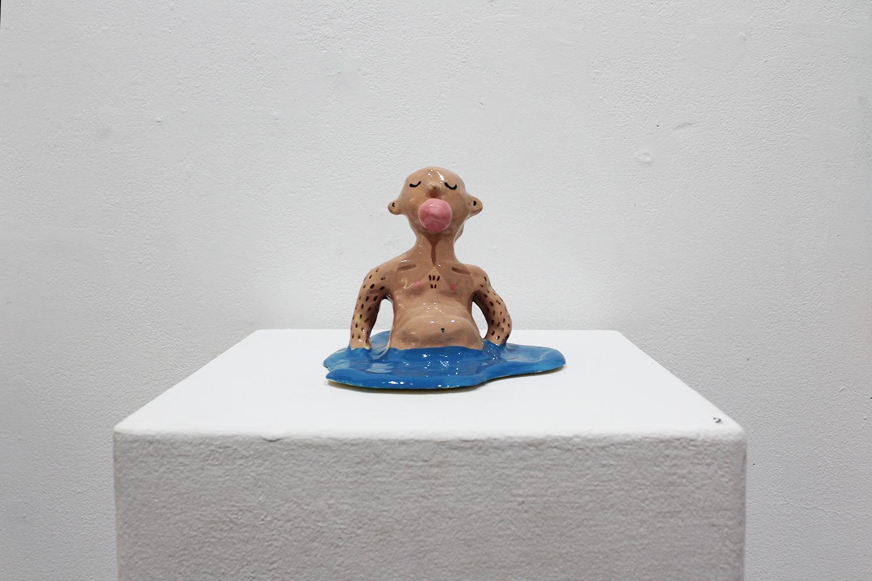 'Hubba bubba boy', glazed ceramic, dimensions variable $250