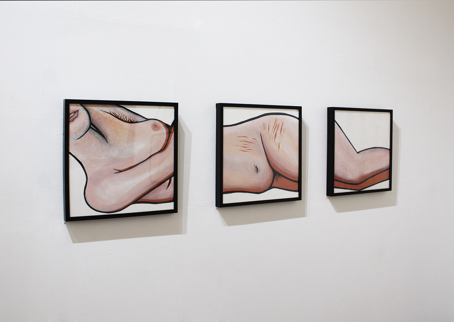 Aileen Ng, 'Woman 1', 'Woman 2', 'Woman 3', acrylic painting, 50x50cm $100 each