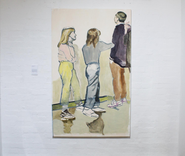 'Three Pants', Wynona Miller, oil and acrylic on canvas, 120x200cm $650