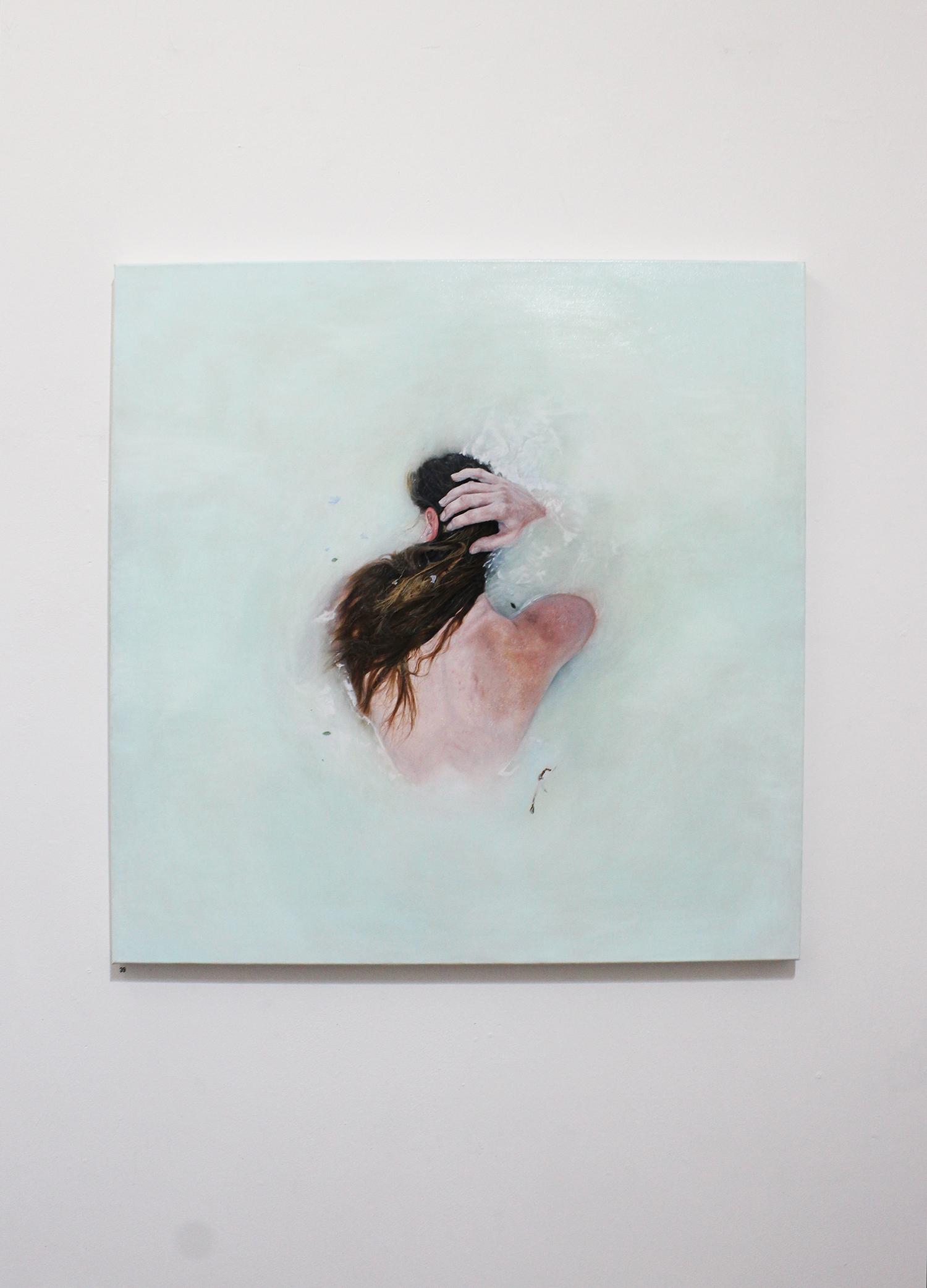 'Submerge', Pippa Hale-Lynch, oil on canvas, 120x120cm $5450