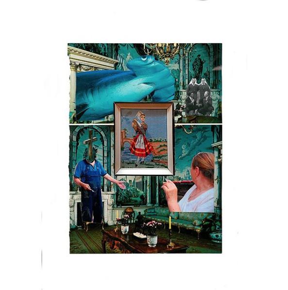'Narod / People', 2018, photocollage, 29.7x40cm (unframed), 30x40cm (framed), $980