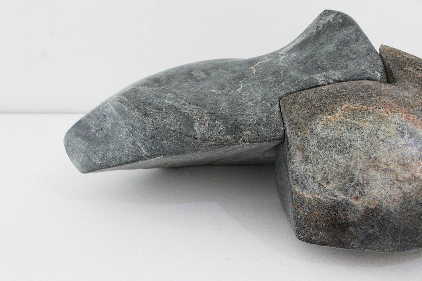 Becoming Two, Soapstone, 16x43x25cm  $1250