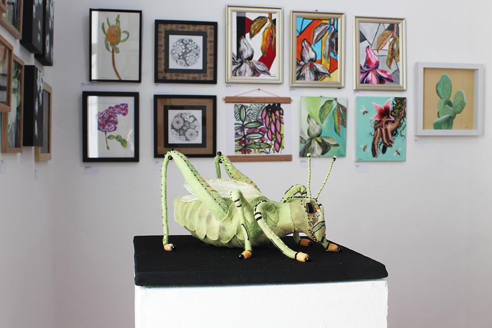 Leis Carson,  Grasshopper  , wool felt and textiles, 35x35cm