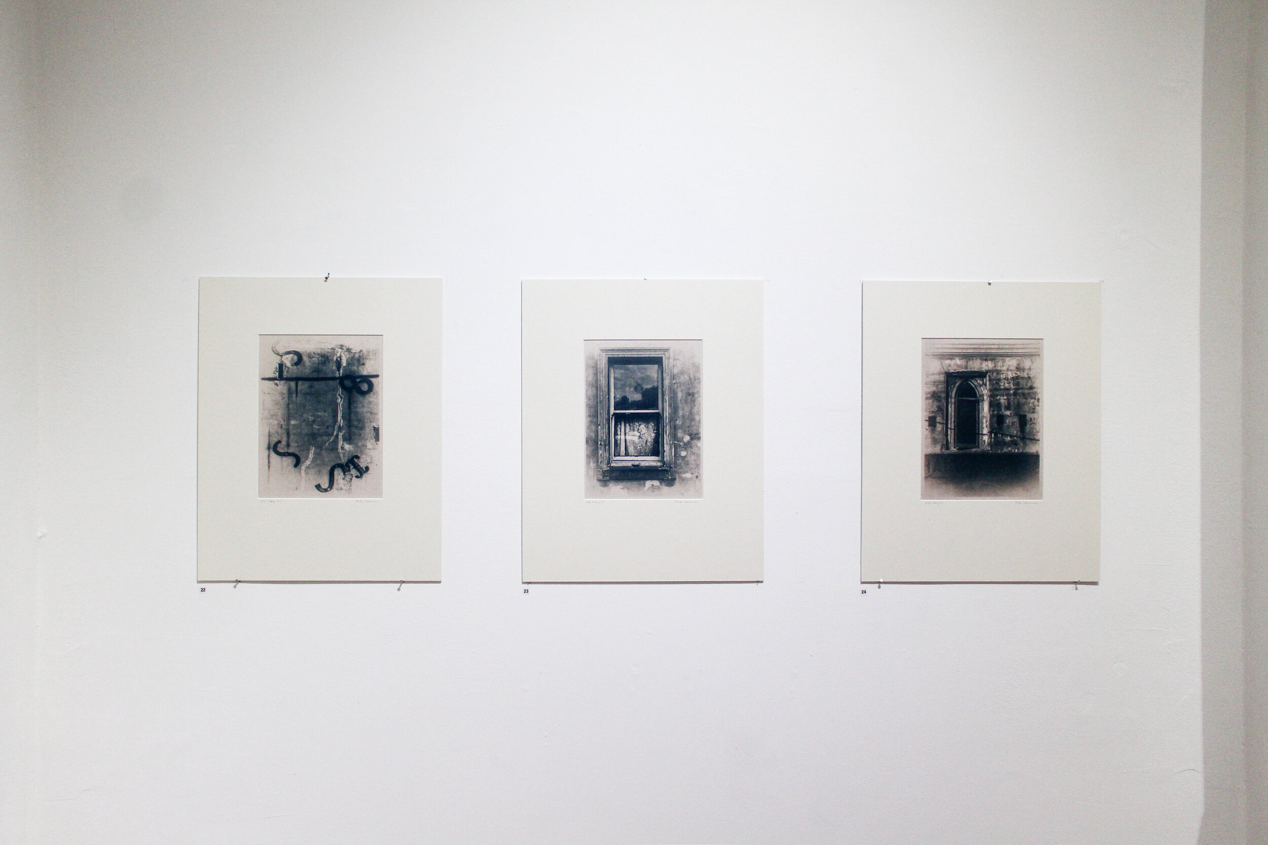 Mark Lourensz,  Old Fitzroy #1 , cyanotype on rice paper, 21 x 29cm,  Old Fitzroy #2 , cyanotype on rice paper, 21 x 29cm,  Old Fitzroy #3 , cyanotype on rice paper, 21 x 29cm