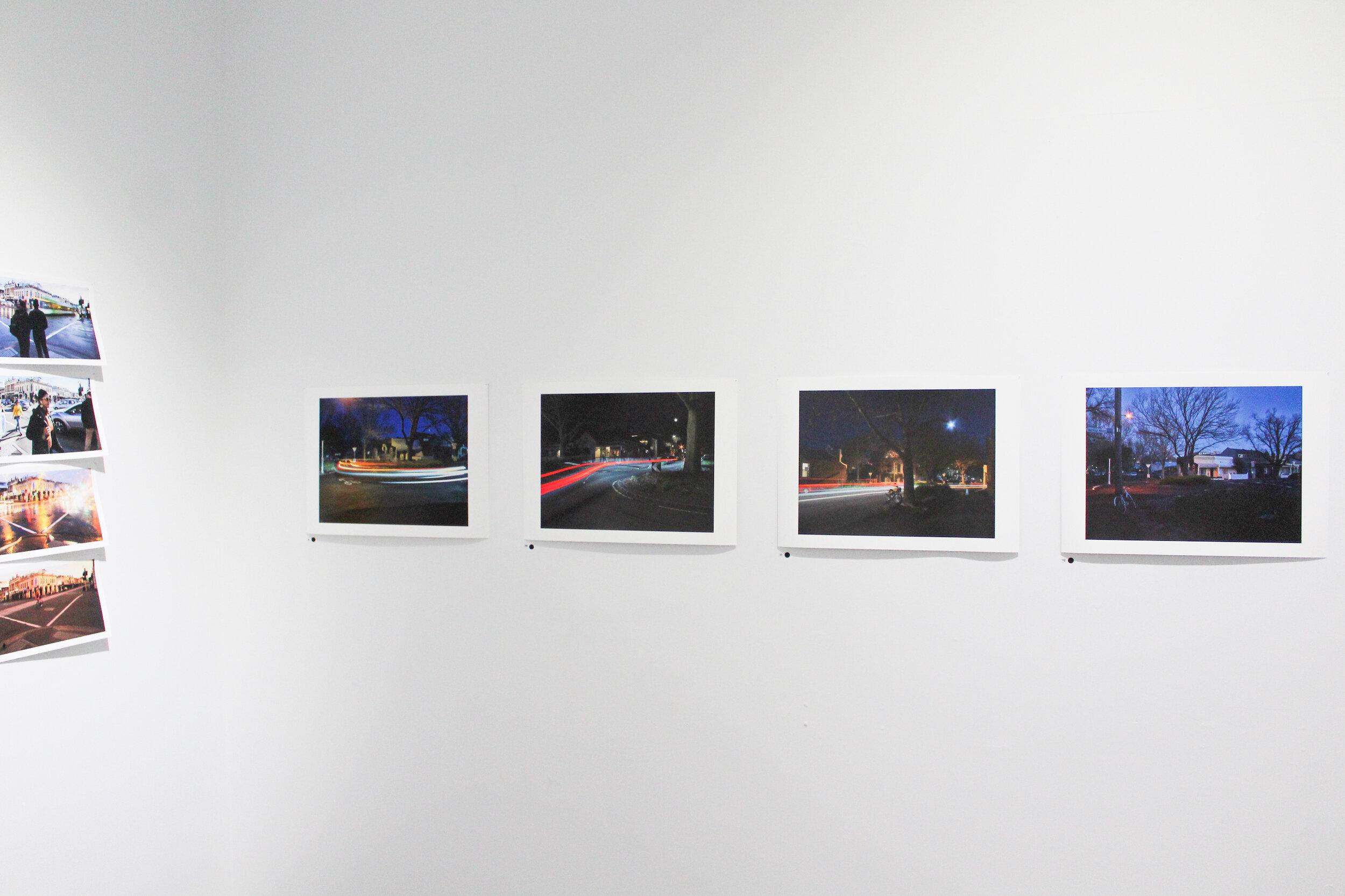 Jonathan Tversky.  Fitzroy Suburbia #1 , giclée print, 47 x 35cm,  Fitzroy Suburbia #2 , giclée print, 47 x 35cm,  Fitzroy Suburbia #3 , giclée print, 47 x 35cm,  Fitzroy Suburbia #4 , giclée print, 47 x 35cm