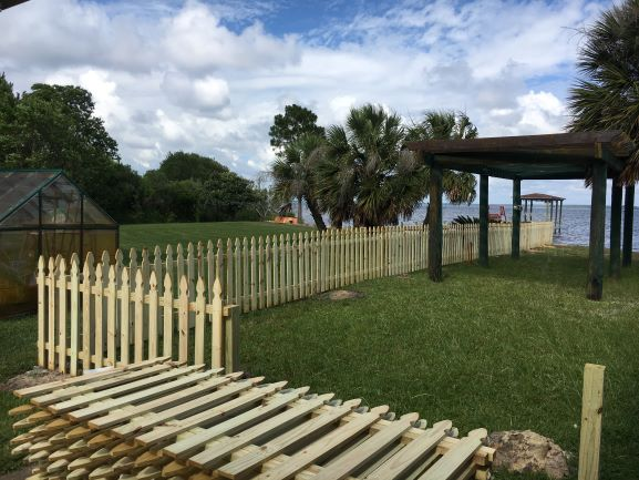 Wood Picket Fence Install
