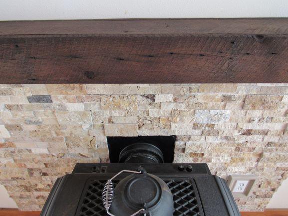 Custom Barnwood Mantel Stone Tile Fireplace Stone Outlet Trim
