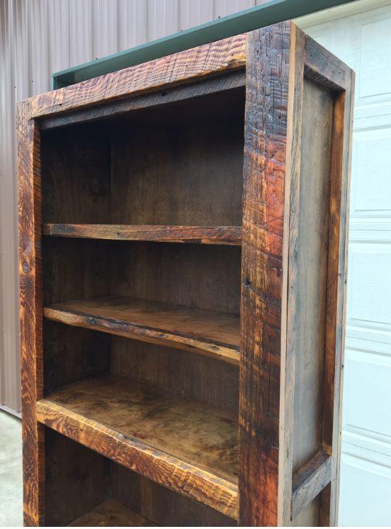 Barnwood Bookshelf Top Shelves