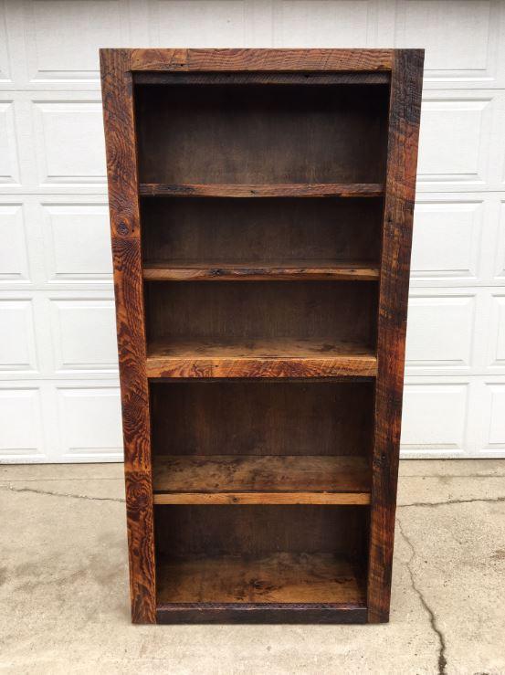 Barnwood Bookshelf Front