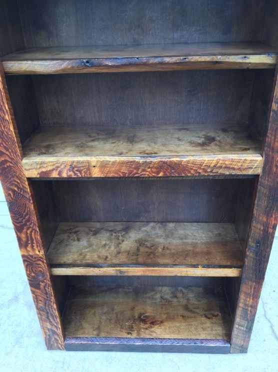 Barnwood Bookshelf Bottom Shelves